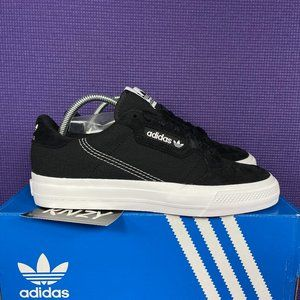 NEW Adidas Continental Vulc Black White Sneakers